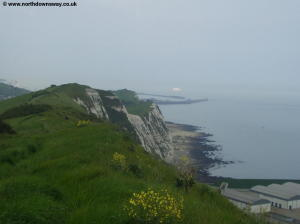 The white cliffs and Samphire Hoe below