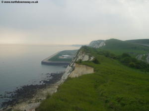 Looking back to Samphire Hoe from Shakespeare Cliff